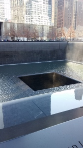 Un des bassins du Memorial du World Trade Center