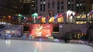 Rockfeller Plaza et sa patinoire